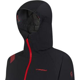 La Sportiva Run Chaqueta Mujer, negro/rojo